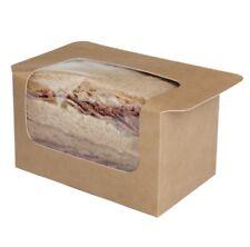 Square Cut Heat Seal Kraft Sandwich Pack (500)