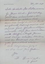 Rudolf Christian Baisch: Signierter, handschriftlicher Brief (1968).