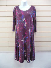 Per Una Round Neck 3/4 Sleeve Floral Dresses for Women
