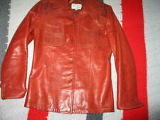 Men's Remy Red  leather jacket Size 38 Punk Rocker Fashion Small