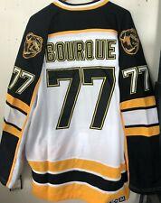 NWT Boston Bruins #77 Ray Bourque Throwback NHL Jersey white size medium (48)