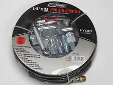 "11 Pc 25' Air Hose kit; Blow Gun, Tire gauge etc; 1/4"" Npt, I/M style; Brand New"