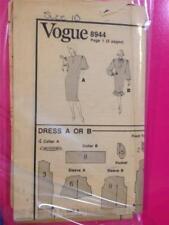 Dress Top Pants Skirt Vogue 8944 Size 12 Vintage Sewing Pattern OOP