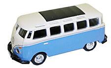 VW Bus, Blu/Bianco - 1:87/H0 Gauge-MODEL POWER (19161)
