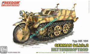 FREEDOM 16001 1/16 WW.II German Sd.kfz.2 Ketten Kraftrad Model Kit