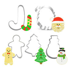 5pcs/Set Christmas Festival Fondant Cake Metal Mold Cookie Cutter Biscuit Moulds