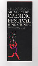 NATIONAL ARTS CENTRE Opening Festival  OTTAWA 1960  program seating chart prices