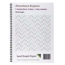 Attendance Register Book School Class Mark Book - 50 A4 Pages - Board Backed