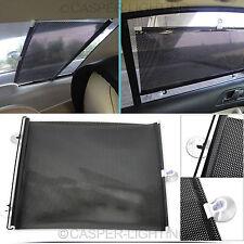 2 x UNIVERSAL CAR WINDOW CURTAINS 40 x 60CM ROLLER BLINDS SUN SHADES CLIPPASAFE