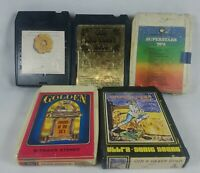 1957-81 Lot of 5 Compilation 8-Track Tapes Full List in Description See Pics!