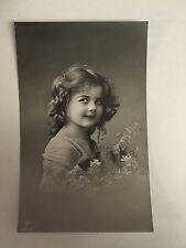 Edwardian Girl Photo Postcard