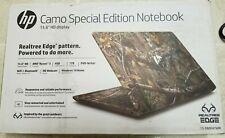 "New HP 15.6"" Realtree Edge Camo Laptop 3.4GHz 1T HDD Radeon R3 DVD+RW Windows 10"