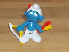 1978 Smurf Archer Bow And Arrow Hunter Smurfs Vintage Schleich Toy Figure Peyo