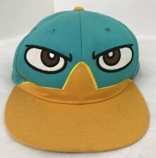 Disney Phineas And Ferb Perry The Platypus Hat Cap Snapback Blue/Yellow