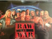 """WWF """"Raw Is War"""" Calculator Mousemat RARE & collectable perfect for COLLECTORS"""