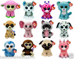 """Ty Beanie Boo Boos - Choose Your Favourite Soft plush Character - 6"""" inc (15 cm)"""