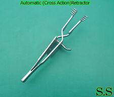 """Automatic (Cross Action) Skin Retractor 4"""" Blunt"""