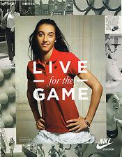 PUBLICITE ADVERTISING  2011   NIKE  vetements de Sport  CAROLINE GARCIA