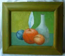 Original russian abstract oil painting signature canvas framed