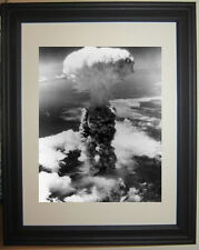Atomic Nuclear Bomb  Nagasaki Mushroom Cloud  Framed Photo Picture