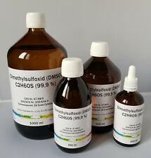 DMSO Dimethylsulfoxid 99,9% Reinheit, in Braunglasflasche, 100/250/500/1000 ml