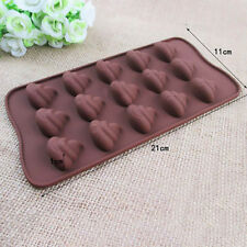 Emoji Poo Face Silicone Mold For Cake Chocoloate Candy Biscuit Ice Baking mold