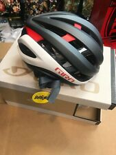 Giro Aether Matte Gray White Red Cycling Helmet Size Medium