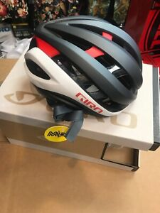 Giro Aether Matte Gray Red White Cycling Helmet Size Medium