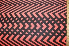 Black Red Geometric ITY Print #57 Stretch Polyester Lycra Spandex Fabric BTY