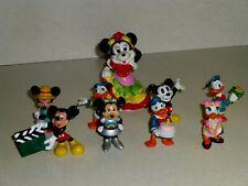 Miniature Disney Figures~4 Donald & Daisy,5 Mickey & Minnie~1970's~Bday/A stront+
