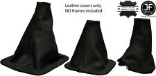 BLACK STITCH FOR LANDROVER DISCOVERY MK1 MK2  96-2004 3 x LEATHER GAITERS SET