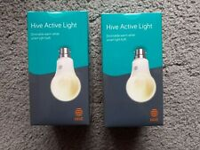 Hive Active Light Dimmable Warm White B22 Bayonet Bulb x 2 New & Sealed