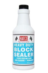 HAPCO BLOCK SEALER - STOPS LEAKS IN RADIATOR, HEAD GASKET, CRACKED BLOCK