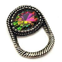 Vintage Costume Jewellery Mystic Topaz Crystal Brooch