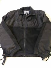 5.11 Tactical Mens Fleece Softshell Jacket Coat Size L Black Full Zip Conseal