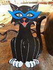 "Vintage Repro Cat,7 Colors Mod Glasses Halloween Cardstock Decoration,8"" OR 10 """