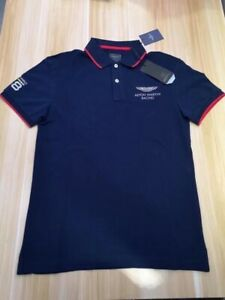 Hackett AMR Men's Cotton Short Sleeved Polo Shirts in NAVY SIze L
