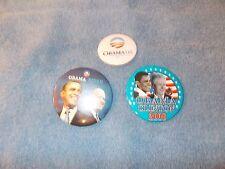 Barack OBAMA Biden, Clinton Presidential Campaign Button PIN Lot of 3