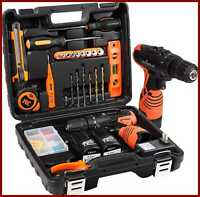 Power Tools Combo Kit W 16.8V Cordless Drill For 48 Accessories Home Repair Tool