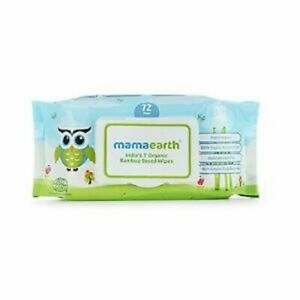 Mamaearth India's First Organic Bamboo Based Baby Wipes 72 Wipes
