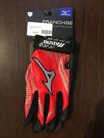 Mizuno Franchise Baseball Batting Gloves Adult X-Large (XL)  Red  NEW