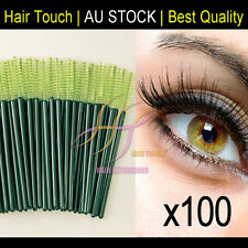 100 green Disposable Eyelash Brush Mascara Wands Extension Applicator Makeup