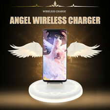 Qi Wireless Charger Dock Angel Wings Fast Charging Stand For iPhone 11 Pro Max