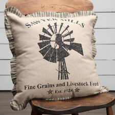 "Sawyer Mill 18"" Windmill Fabric Throw Pillow by Vhc Brands"