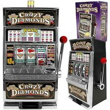 Slot Machine Replica Bank Crazy Diamonds Token Coins Casino Game Room Bar Slots
