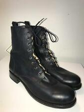 FRYE 87991 MEN'S BLACK LEATHER LACE UP COMBAT BOOTS SZ 12D NEW