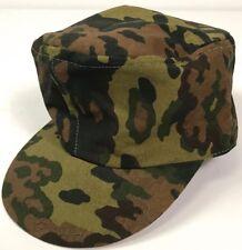 WWII GERMAN WAFFEN M43 OAK B CAMO COMBAT FIELD CAP-LARGE