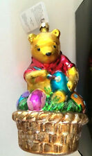 Christopher Radko Easter Winnie Pooh Christmas Ornament Disney Eggs New Box Tag