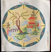 "Needlepoint Kit Japanese Asian Pagoda Garden 18"" Seebo's Creations No. Art 125B"