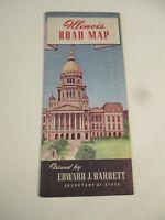 Vintage Illinois State Travel Road Map~1940 Census